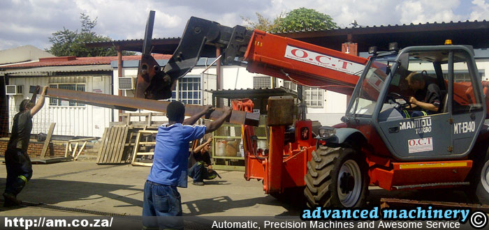 Loading I-Beam by Forklift