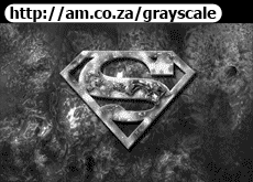 Superman Logo in Fire Grayscale Image 2260x1413