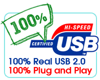 100% Real USB, 100% Plug and Play