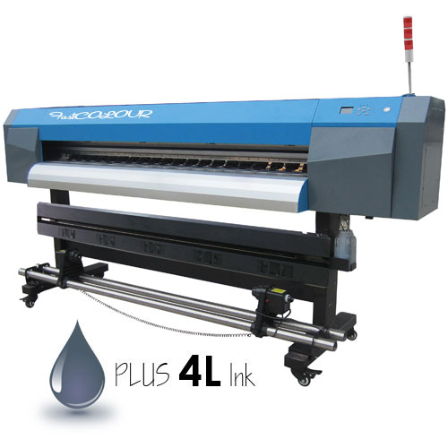 AM.CO.ZA FastCOLOUR 1860mm Large-Format ECO Solvent Ink Inkjet Printer, EPSON® DX5 Printhead with Full Accessories and Inks