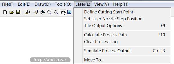 Laser Cutting Settings - TruCUT CNC Laser Cutter Operating Software