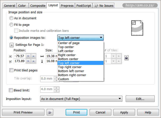 Reposition Images to Top-Left Corner in CorelDRAW