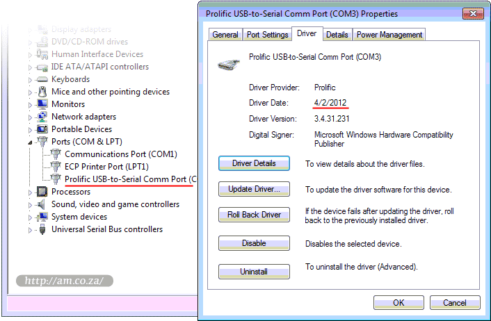 Use correct driver version for v series vinyl cutter 2013 - Prolific usb to serial comm port driver windows 8 ...