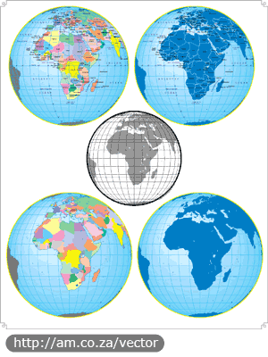GLOBE Africa Vector File