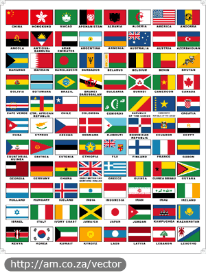 88 National Flags Vector Design
