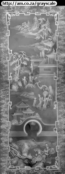 Ladies Play at Lotus Manor Grayscale Art Work 1755x4514