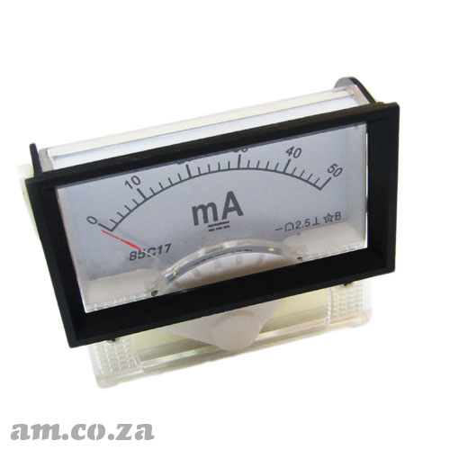 50mA Ampere Meter (Galvanometer) Needle Panel Meter Gauge