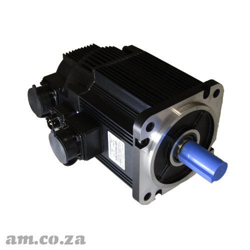1.3kW Medium Capacity Brushless Servo Motor with Brake Mechanism, 1500 RPM, AC 3-Phase