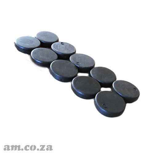 Rubber Cap for Vacuum Table Vacuum Hole, Per 10 Caps Pack