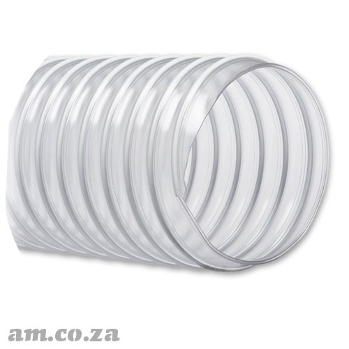 Φ45mm Clear Polyurethane Flexible Vacuum Hose with Reinforced Steel Wire, Per 1 Metre