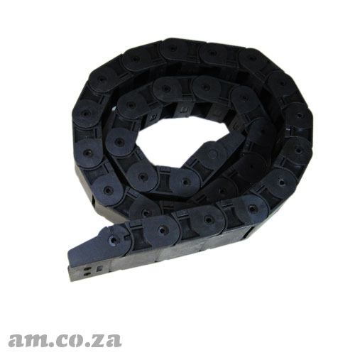 Black PVC Cable Drag Chain H18 W25, about 1 Metre Length Include Dragging Chain End Connectors