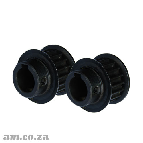 18 Teeth Pulley Gear for 5M Timing Belt, Suitable for Motor with 14mm Shaft, A Pair of Two Pulleys