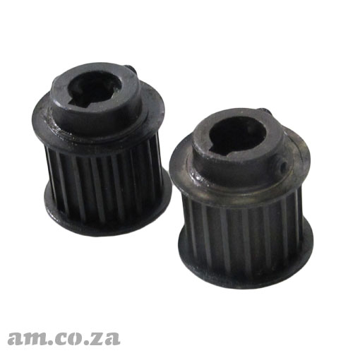18 Teeth Pulley Gear for 5M Timing Belt, Suitable for Motor with 12.7mm (1/2 Inch) Shaft, A Pair of Two Pulleys