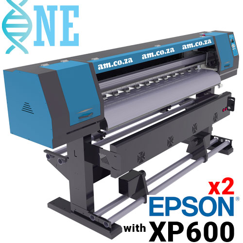 AM.CO.ZA FastCOLOUR™ ONE 1600mm Printing Area Large Format Printer withTwo EPSON® XP600 Printheads, No Software, No Inks