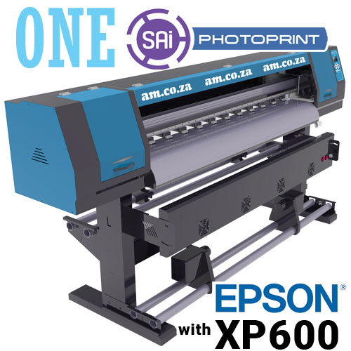 AM.CO.ZA FastCOLOUR™ ONE 1600mm Printing Area Large Format Printer with EPSON® XP600 Printhead and SAi FlexiPRINT Software, No Inks
