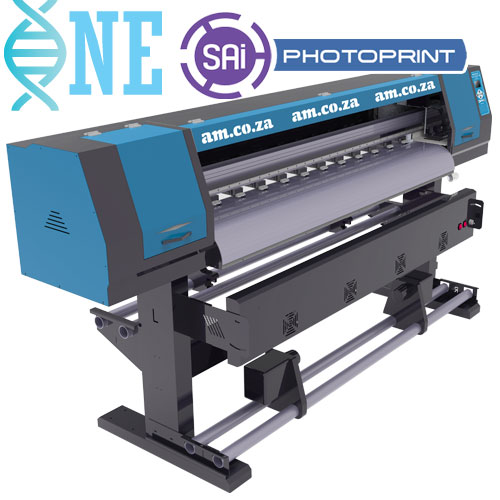 AM.CO.ZA FastCOLOUR™ ONE 1600mm Printing Area Double Printhead Large Format Printer with SAi PhotoPRINT Software, No Printhead Included, No Inks
