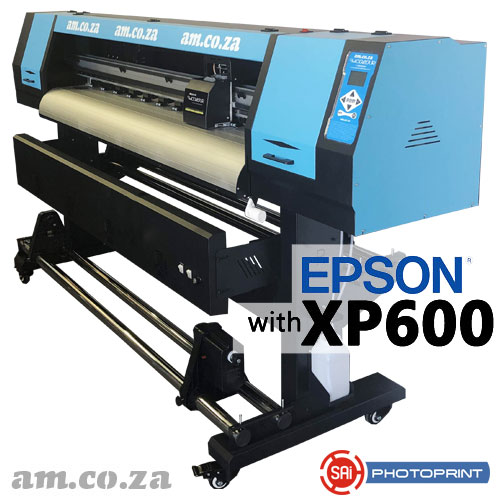 AM.CO.ZA FastCOLOUR™ Lite 1600mm EPSON® XP600 Printhead Budget Solvent/Water Ink Inkjet Wide-Format Printer with SAi FlexiPRINT RIP Software
