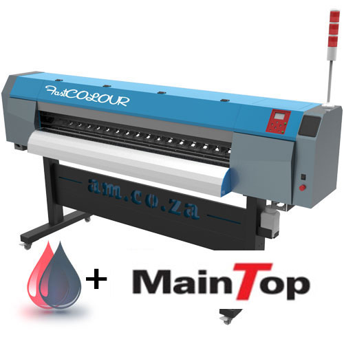 AM.CO.ZA FastCOLOUR™ 1860mm EPSON® DX5 Printhead Large-Format ECO Solvent Ink Inkjet Printer with MainTOP Software and Inks