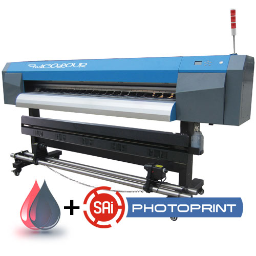 AM.CO.ZA FastCOLOUR™ 1860mm EPSON® DX5 Printhead Large-Format ECO Solvent Ink Inkjet Printer with Full Accessories, SAi PhotoPRINT Software and Inks