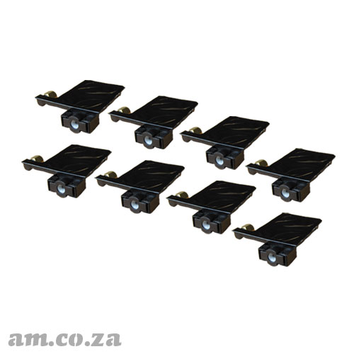 A Set of 8 Solvent and UV Resistant Black Ink Dampers for Φ4 Ink Pipe for EPSON® DX5/XP600 Printhead
