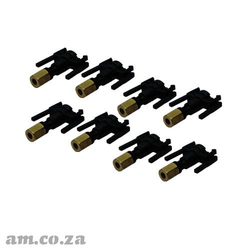 A Set of 8 Solvent Resistant UV Resistant Black Damper Size Converter to Φ3 Ink Pipe for Φ4 Premium Ink Damper
