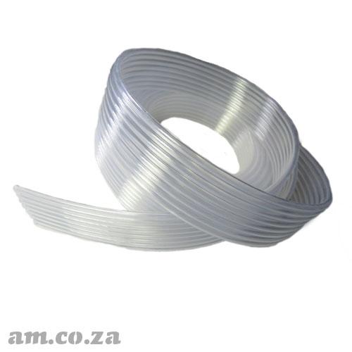 8 Tubes in a Row Φ4(OD)/Φ3(ID) Solvent Resistant Transparent Soft Plastic Ink Tubing for FastCOLOUR™ Printer, Price Per Meter