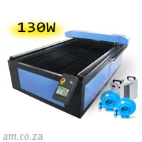 AM.CO.ZA TruCUT™ Standard Range 1300×2500mm Flatbed Type Laser Cutting and Engraving Machine with 130W CO<sub>2</sub> Laser Tube Complete Package
