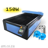 AM.CO.ZA TruCUT™ Standard Range 1300×2500mm Flatbed Type Laser Cutting and Engraving Machine with 150W CO<sub>2</sub> Laser Tube Complete Package