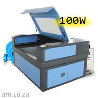 AM.CO.ZA TruCUT™ Standard Range 1300×900mm Cabinet Type Laser Cutting and Engraving Machine with 100W CO<sub>2</sub> Laser Tube Complete Package