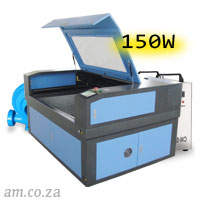 AM.CO.ZA TruCUT™ Standard Range 1300×900mm Cabinet Type Laser Cutting and Engraving Machine with 150W CO<sub>2</sub> Laser Tube Complete Package