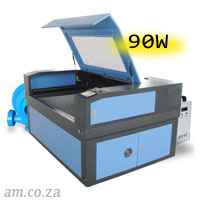 AM.CO.ZA TruCUT™ Standard Range 1300×900mm Cabinet Type Laser Cutting and Engraving Machine with Premium 90W CO<sub>2</sub> Laser Tube Complete Package
