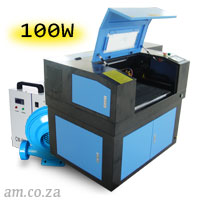 AM.CO.ZA TruCUT™ Standard Range 600×400mm Cabinet Type Laser Cutting and Engraving Machine with 100W CO<sub>2</sub> Laser Tube Complete Package