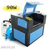 AM.CO.ZA TruCUT™ Standard Range 600×400mm Cabinet Type Laser Cutting and Engraving Machine with Premium 90W CO<sub>2</sub> Laser Tube Complete Package