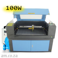 AM.CO.ZA TruCUT™ Standard Range 900×600mm Cabinet Type Laser Cutting and Engraving Machine with 100W CO<sub>2</sub> Laser Tube Complete Package