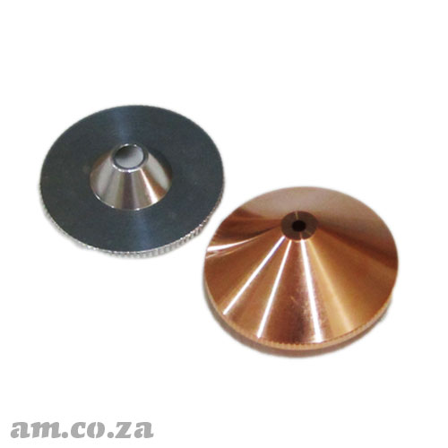 Metal/Non-Metal CO2 Laser Nozzle Set, include One Aluminium Non-Metal Cutting Nozzle and One Copper Metal Cutting Nozzle