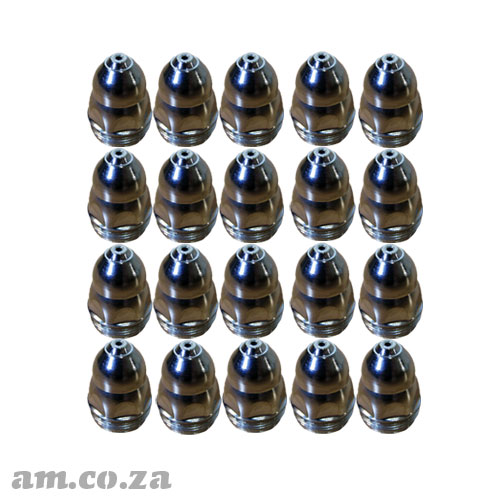 AM.CO.ZA MetalWise™ Mach™Three 1<sup>st</sup> Generation 130A Plasma Air-Cooling Mechanized Torch Full Power Nozzle Pack of 20