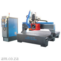 AM.CO.ZA PowerRoute™ 2000×3000mm 9kW Spindle CNC Router with Carousel ATC, 8 Tools, Vacuum Table Complete Set