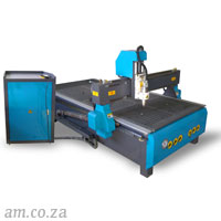 AM.CO.ZA EasyRoute™ 380V Standard 1300×2500mm Hard PVC/Bakelite Clampable Vacuum CNC Router with 3kW Water-Cooled Spindle and Stepper Motors