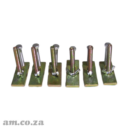 A Set of Six CNC Router T-Slot Table Clamping Kits