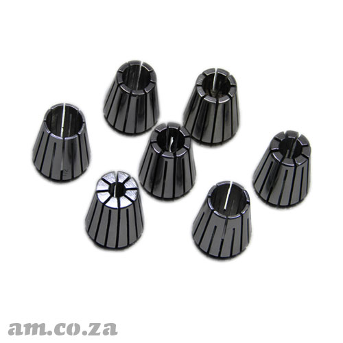 ER20 Collet Standard Set, Includes 3mm, 4mm, 6mm, 8mm, 10mm, 12mm and 1/2inch Collet Each