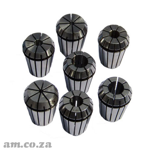 ER25 Collet Standard Set, Includes 3mm, 4mm, 6mm, 8mm, 10mm, 12mm and 1/2inch Collet Each