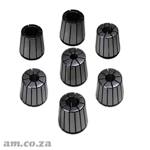 ER32 Collet Standard Set, Includes 3mm, 4mm, 6mm, 8mm, 10mm, 12mm and 1/2inch Collet Each