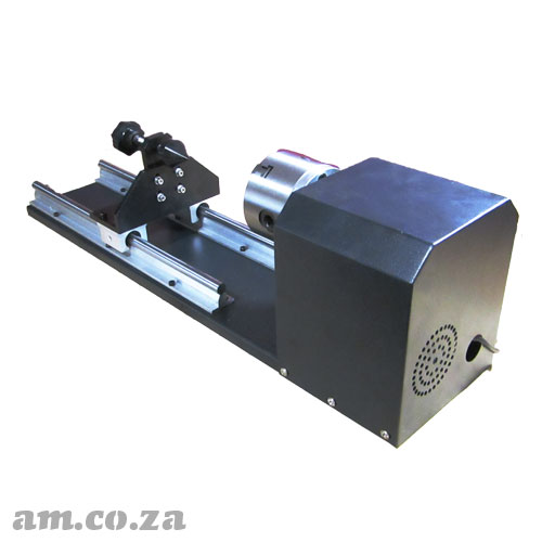 Φ80mm Claw Center Driven Rotating Unit for Laser Cutting Machine with 300mm Length Working Area, 3-Phase U/V/W Stepper Motor