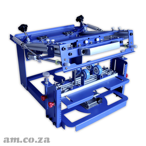 AM.CO.ZA ScreenMaster™ Bottle-PRO Screen Printer for Cylinder Objects ≤Φ80mm