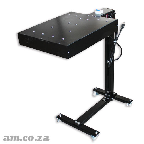 AM.CO.ZA ScreenMaster™ 1600W Flush Dryer on Wheeled Base Stand with Height Adjustment and Temperature Sensor Attachment