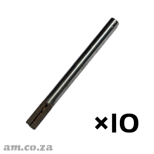 10 Pieces of 12mm Flat End Mill Marble Stone Router Bit with 30mm Coarse Grit and Cooling Slot, Full Length ⩾150mm