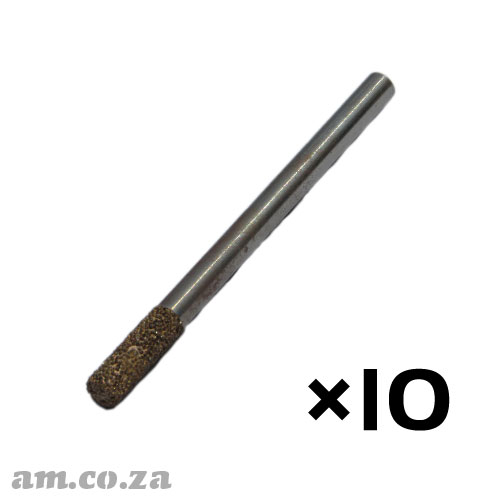 10 Pieces of 6mm Flat End Mill Marble Stone Router Bit with 20mm Coarse Grit, Full Length 90mm