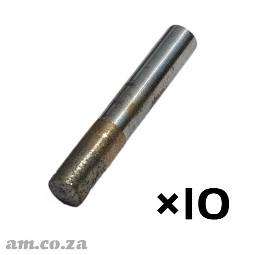 10 Pieces of 10mm Flat End Mill Granite Stone Router Bit with 10mm Fine Grit, Full Length 50mm
