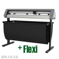 AM.CO.ZA V-Smart™ Contour Cutting Vinyl Cutter 1310mm Working Area with Stand & Collection Basket, plus FlexiSIGN Software