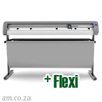 AM.CO.ZA V-Smart™ Contour Cutting Vinyl Cutter 1660mm Working Area with Stand & Collection Basket, plus FlexiSIGN Software